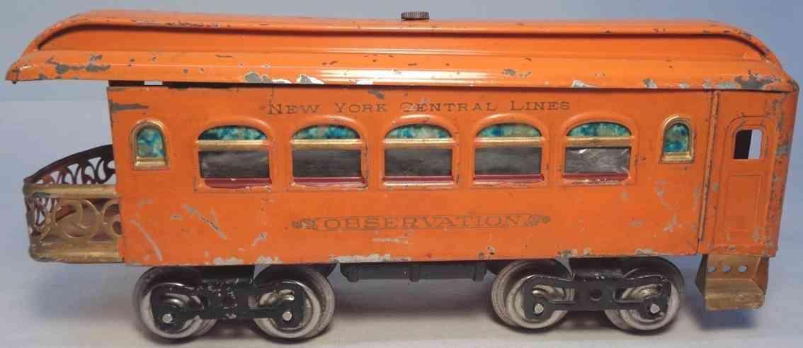 lionel 36 spielzeug eisenbahn aussichtswagen orange standard gauge