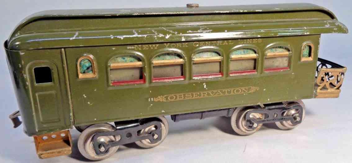 lionel 36 spielzeug eisenbahn aussichtswagen olive standard gauge