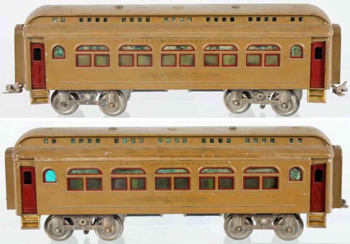 lionel 418 eisenbahn personenwagen sand braun standard gauge