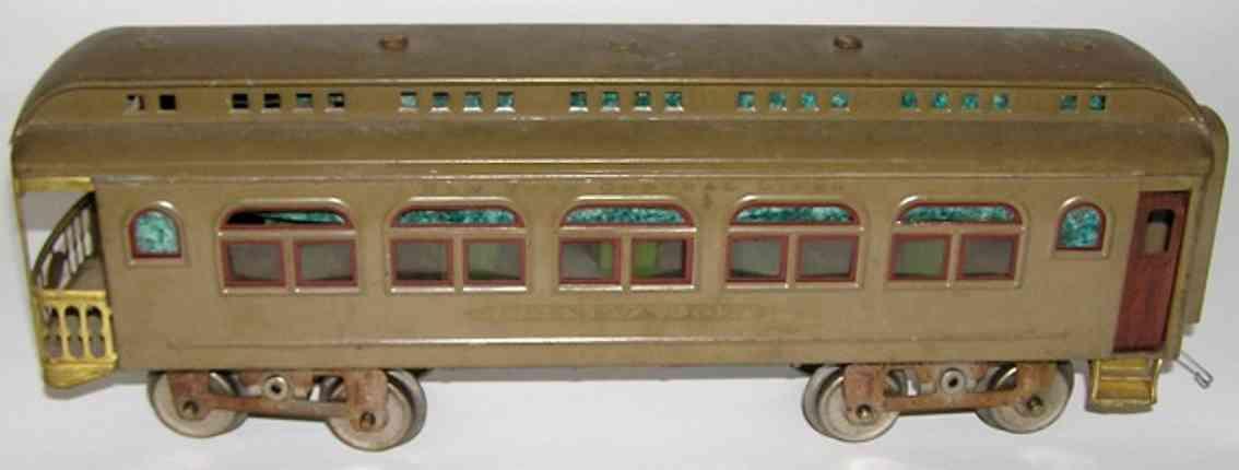 lionel 490 type 2 spielzeug eisenbahn aussichtswagen standard gauge