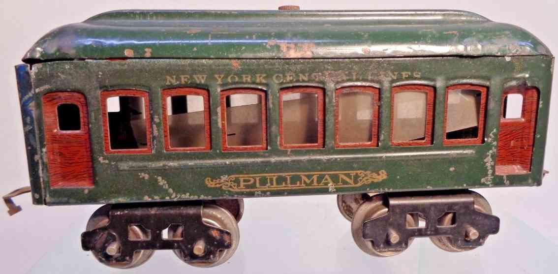 lionel 601 railway toy observation car gray red brass copper gauge 0