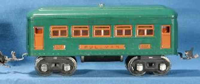 lionel 607 spielzeug eisenbahn schlafwagen pfauenblau orange nickel spur 0