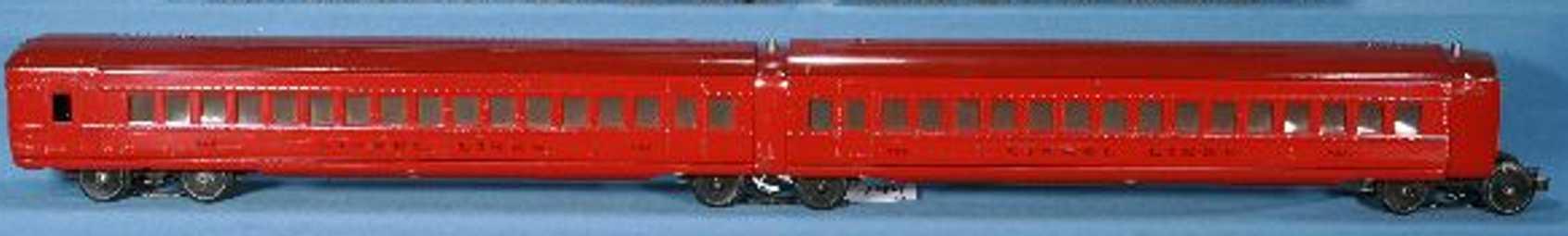 lionel 794 railway toy observation car  red gauge 0