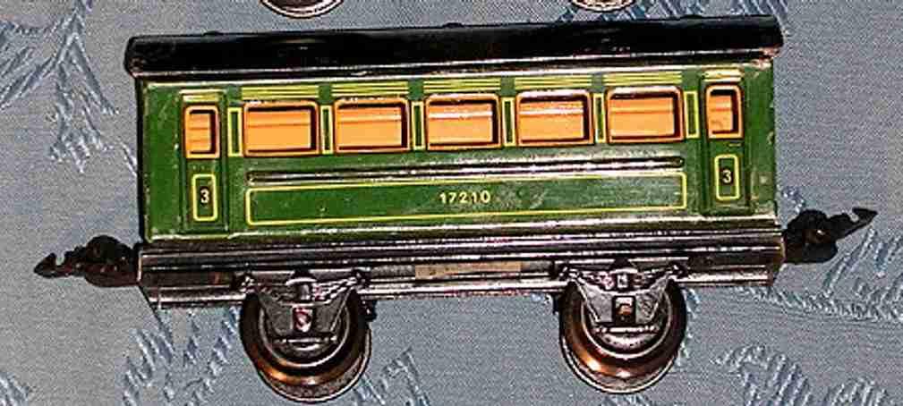 maerklin 1721/0 spielzeug eisenbahn personenwagengruen spur 0 spur 0