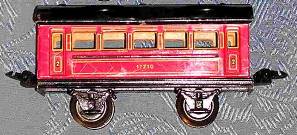 maerklin 1721/0 spielzeug eisenbahn personenwagen rot spur 0