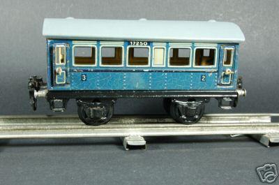 maerklin 1725/0 spielzeug eisenbahn personenwagen blau spur 0