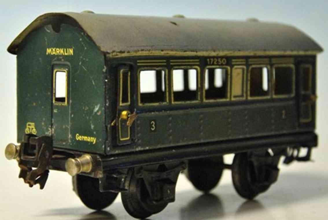 maerklin 1725/0 spielzeug eisenbahn personenwagen gruen spur 0