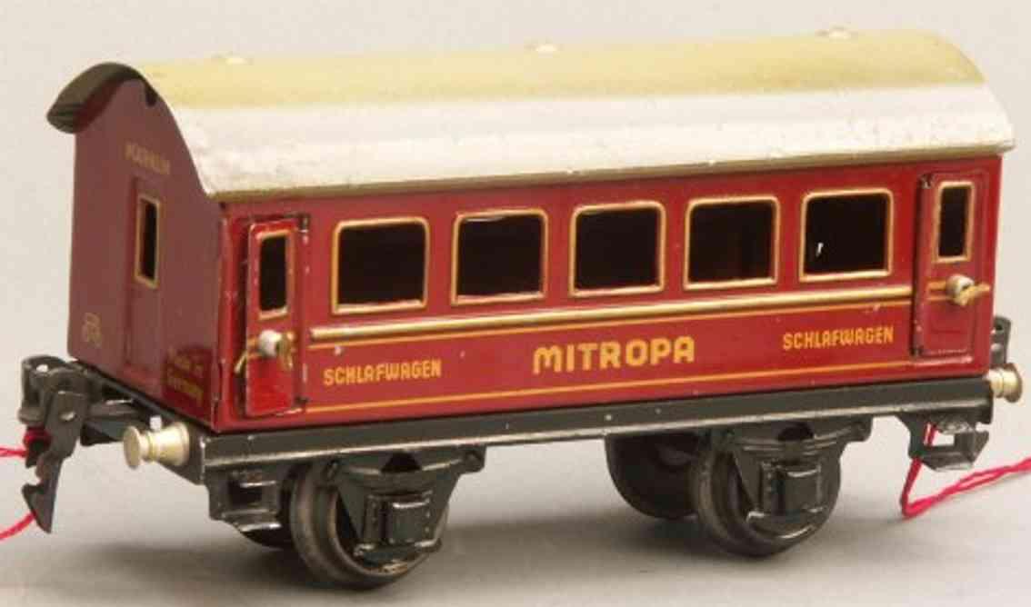 maerklin 1725/0 sch spielzeug eisenbahn schlafwagen rot spur 0