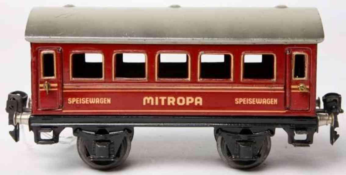 maerklin 1725/0 sp eisenbahn speisewagen mitropa-rot spur 0