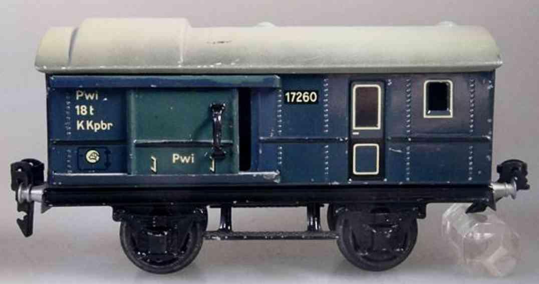 maerklin 1726/0 eisenbahn gepaeckwagen blau spur 0