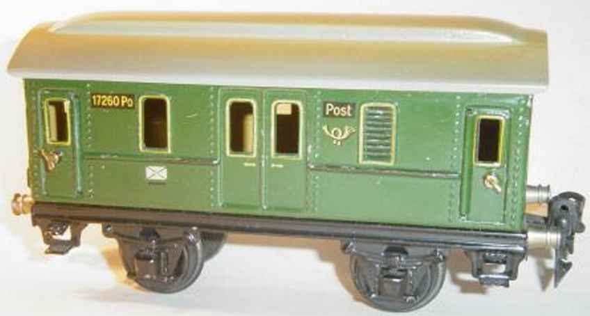 maerklin 1726/0 po postwagen gruen spur 0