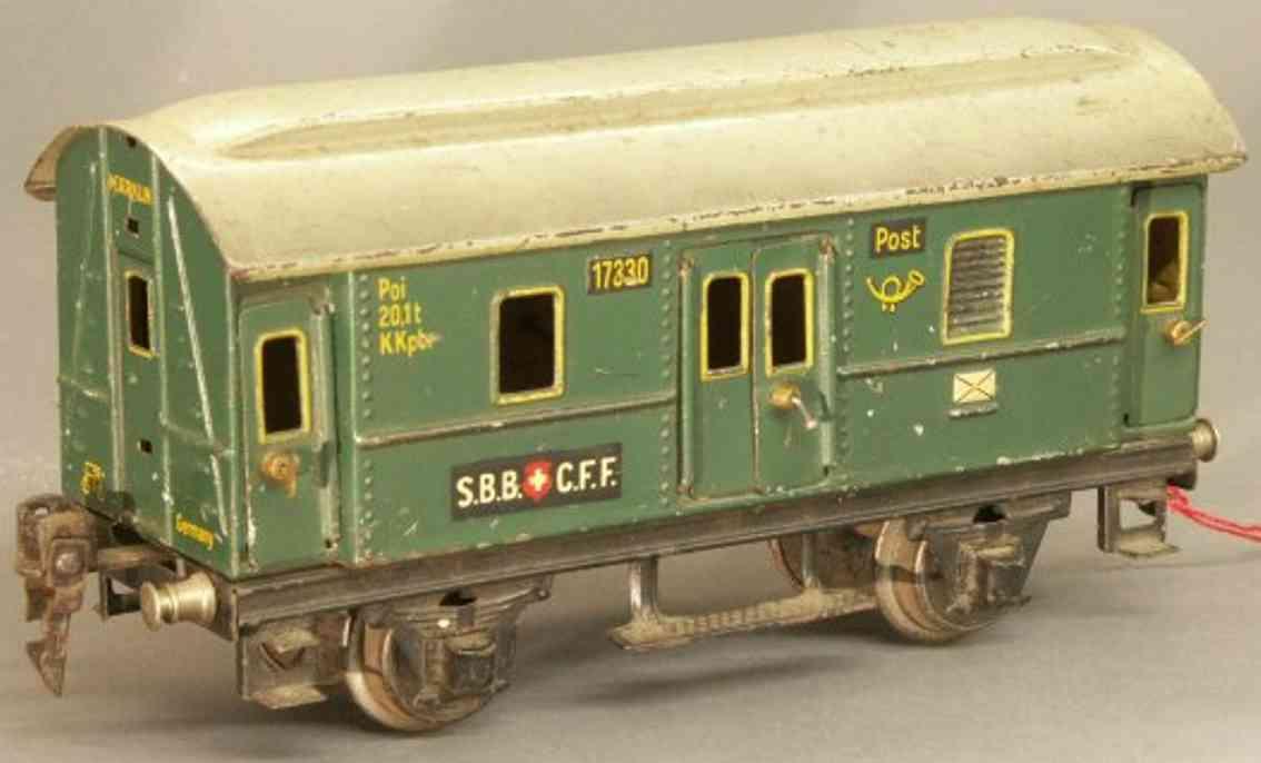 maerklin 1733/0 sbb schweizer postwagen gruen spur 0