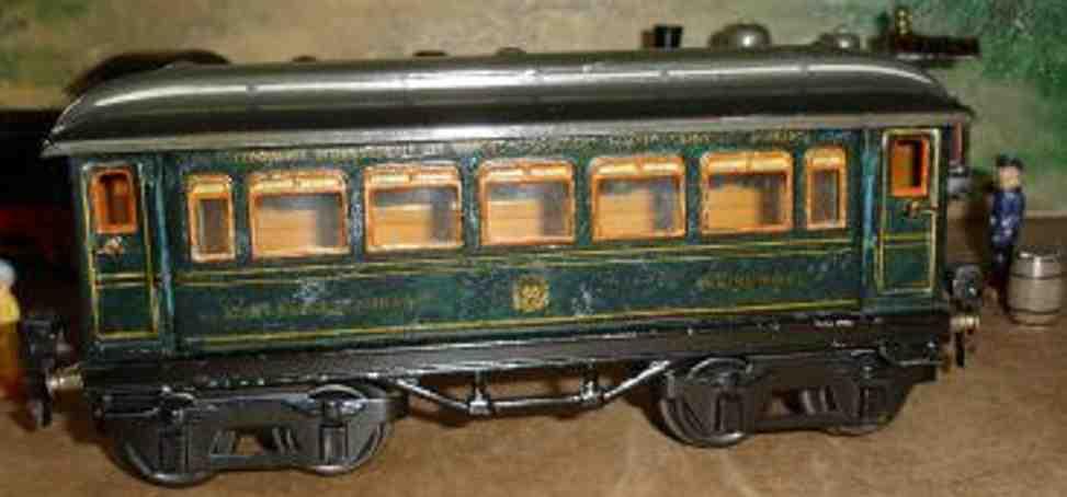 maerklin 1746/0 spielzeug eisenbahn express-zug speisewagen blau spur 0