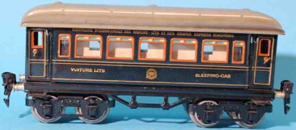 maerklin 1747/0 g spielzeug eisenbahn schlafwagen blau spur 0