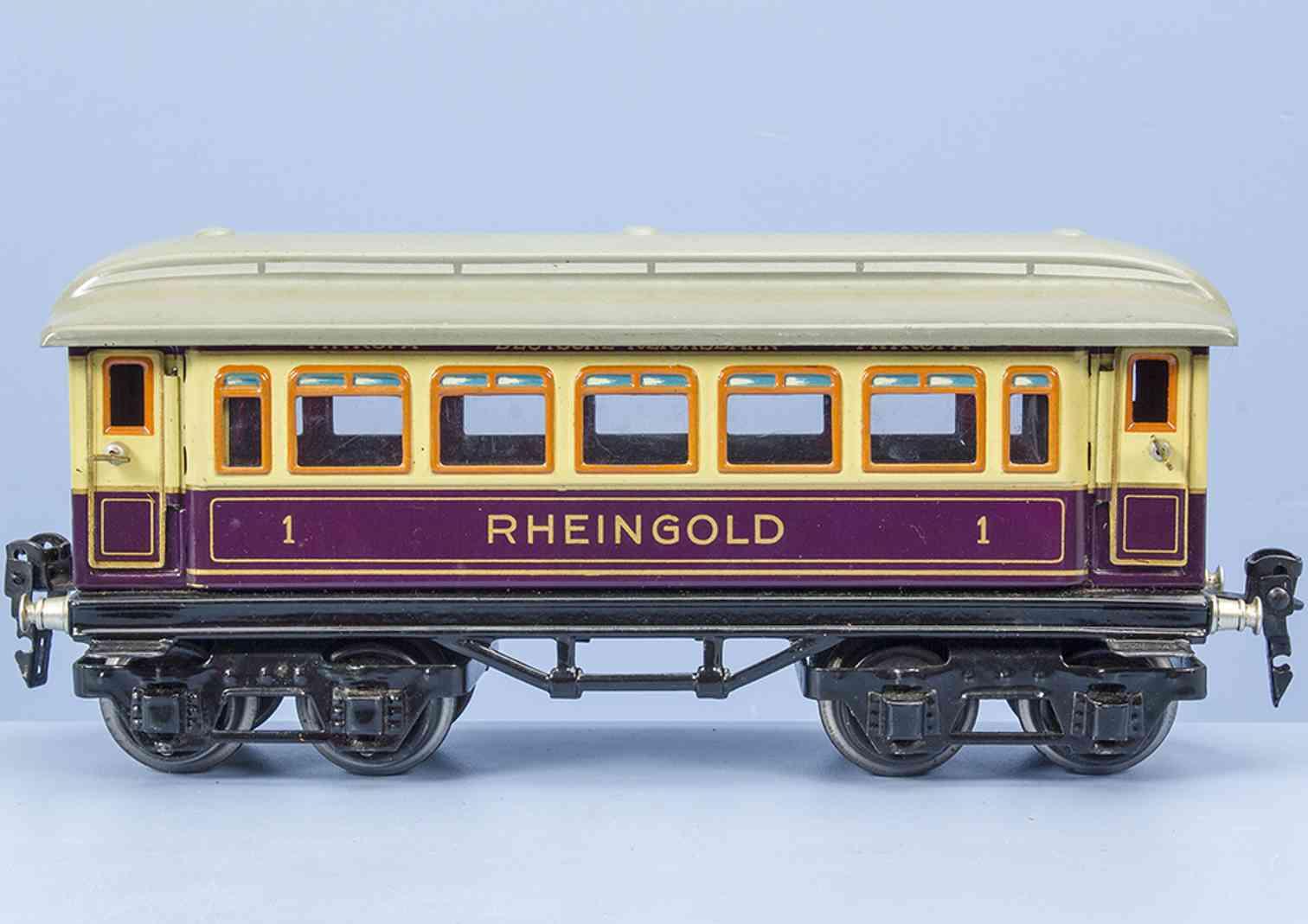 maerklin 1749/0 g  rheingoldwagen violett creme spur 0