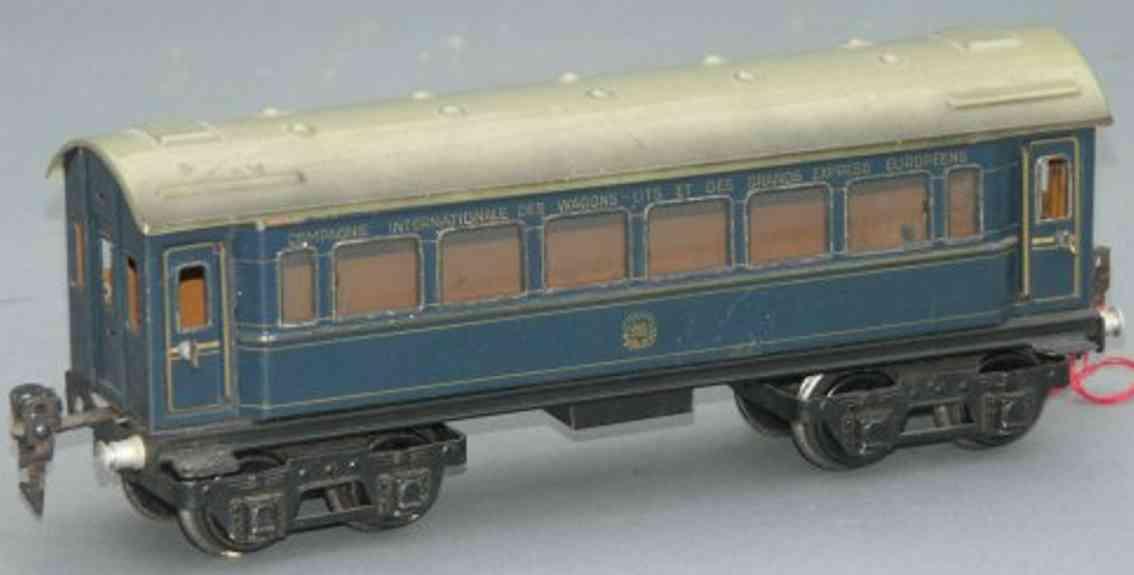 maerklin 1751/0 spielzeug eisenbahn personenwagen  blau spur 0