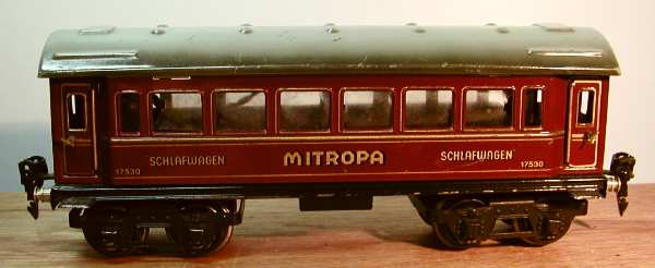 maerklin 1753/0 spielzeug eisenbahn schlafwagen mitropa rot spur 0
