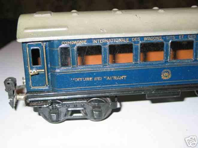 maerklin 1756/0 spielzeug eisenbahn speisewagen blau spur 0
