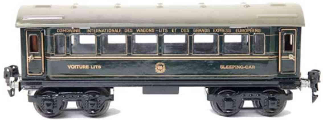 maerklin 1757/0 spielzeug eisenbahn schlafwagen blau spur 0