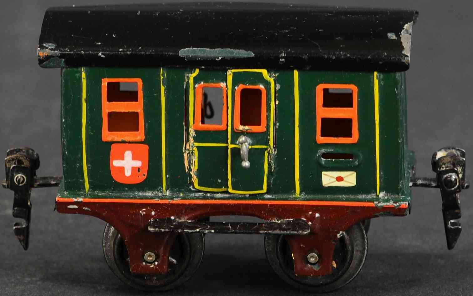 maerklin 1802/0 spielzeug eisenbahn schweizer postwagen spur 0