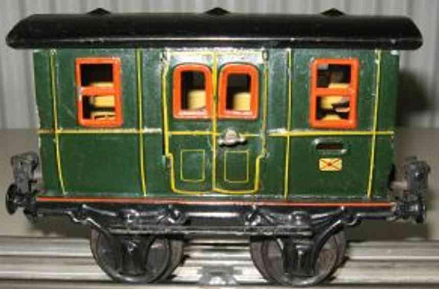 maerklin 1802/1 spielzeug eisenbahn postwagen gruen spur 1