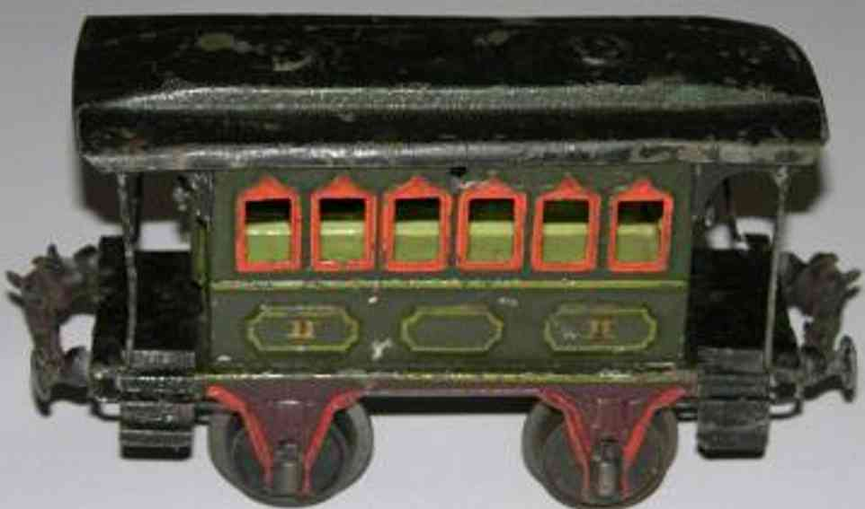 maerklin 1805/1 spielzeug eisenbahn personenwagen gruen spur 1