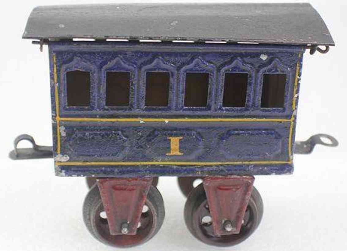 marklin maerklin 1805/1 1903 railway toy passenger car blau spur 1