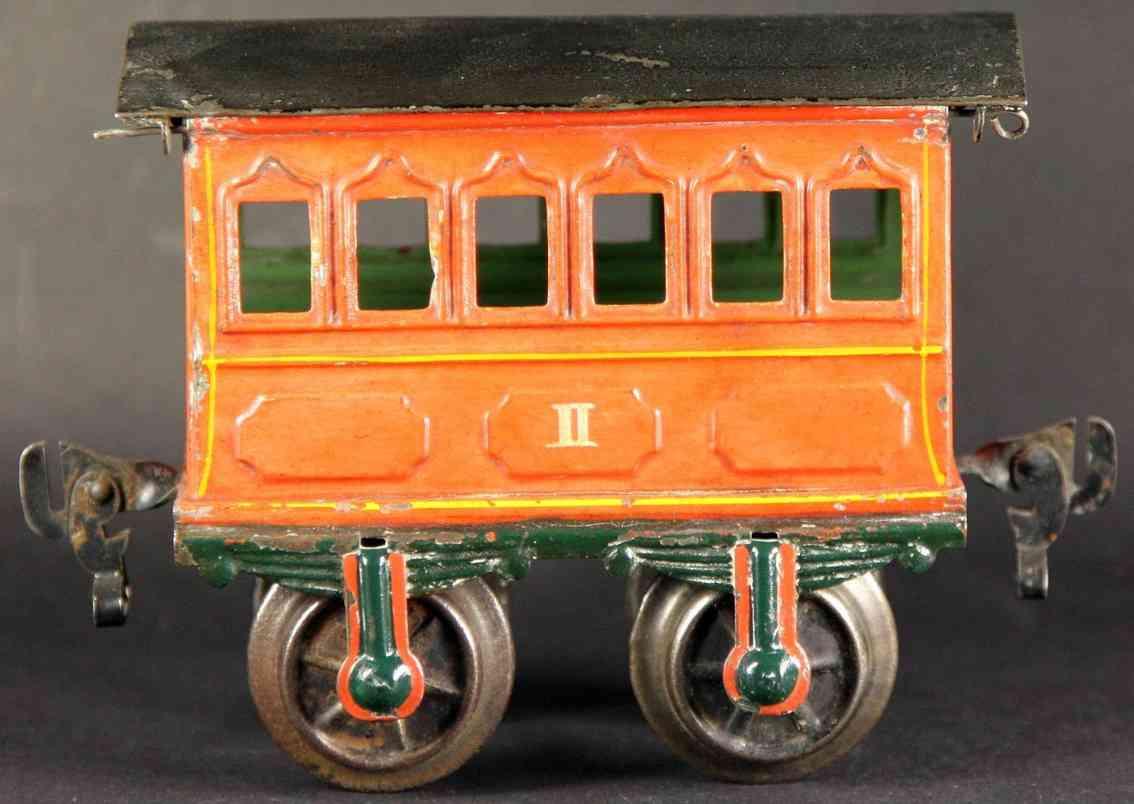 maerklin 1805/1 (1897) spielzeug eisenbahn personenwagen rot spur 1