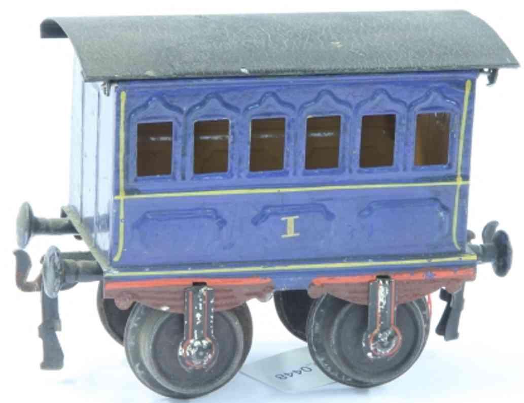 maerklin 1805/1 (1903) spielzeug eisenbahn personenwagen blau spur 1