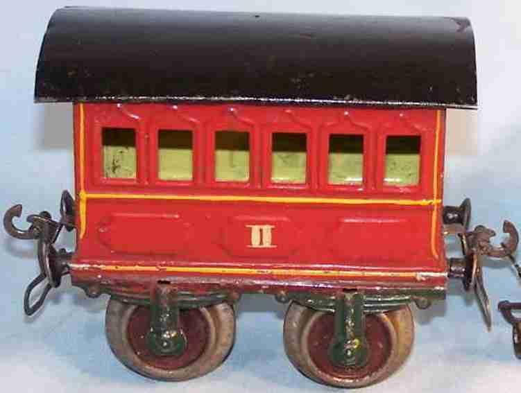maerklin 1805/1 spielzeug eisenbahn personenwagen rot spur 1