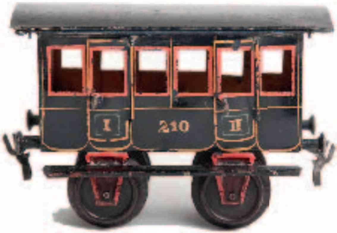 maerklin 1805/II 1892 spielzeug eisenbahn personenwagen blau spur 2