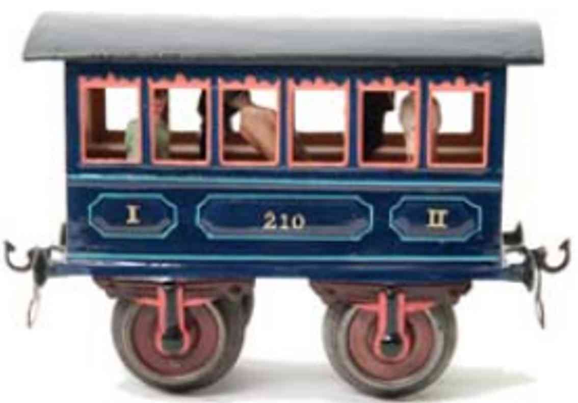 marklin maerklin 1805/II 1907 railway toy passenger car red gauge 2