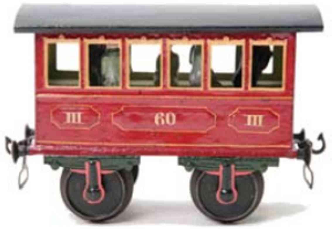 marklin maerklin 1805/II 1907 railway toy passenger car red gauge 2