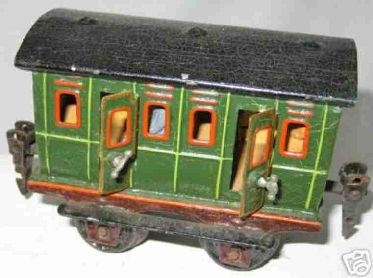maerklin 1806/0 spielzeug eisenbahn abteilwagen gruen schwarz spur 0