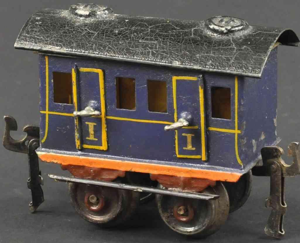 maerklin 1806/0 spielzeug eisenbahn abteilwagen blau spur 0