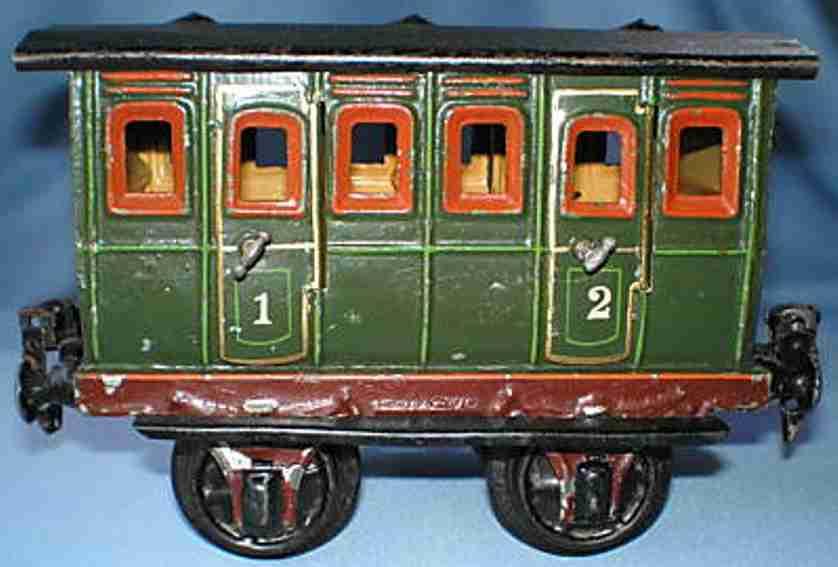 maerklin 1806/1 spielzeug eisenbahn personenwagen abteilwagen gruen spur 1
