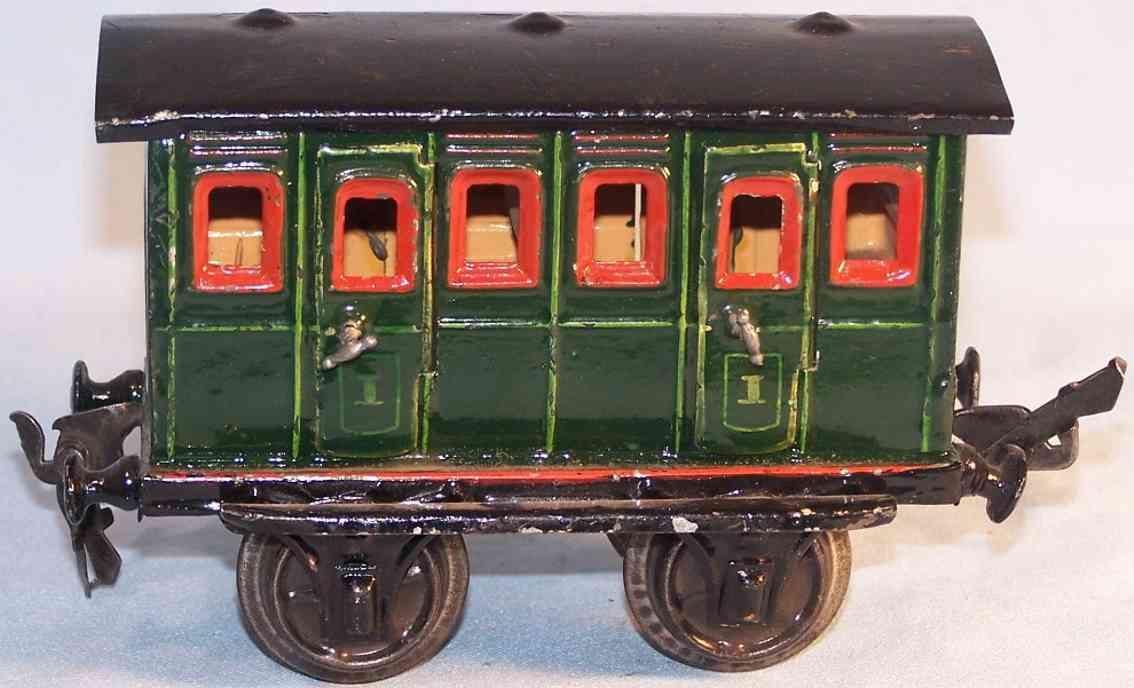 maerklin 1806/1 spielzeug eisenbahn abteilwagen in gruen spur 1