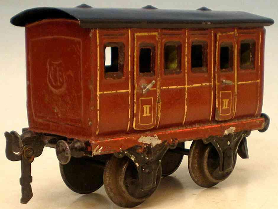 maerklin 1806/1 spielzeug eisenbahn abteilwagen in braun spur 1