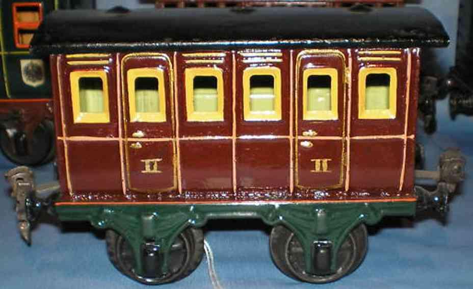 maerklin 1806/1 spielzeug eisenbahn personenwagen abteilwagen rotbraun spur 1