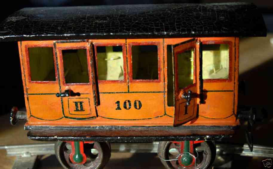 maerklin 1806/II spielzeug eisenbahn personenwagen abteilwagen gelb spur 2
