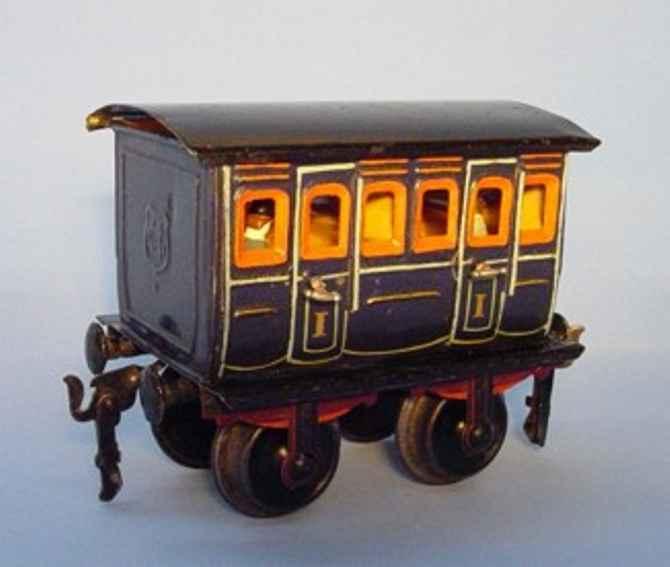 maerklin 1806/II spielzeug eisenbahn personenwagen abteilwagen blau spur 2