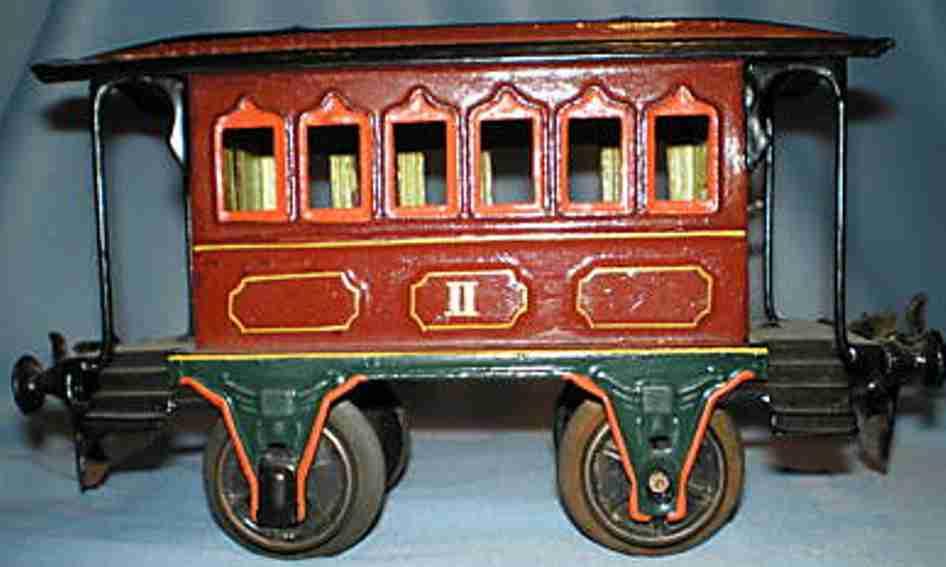 maerklin 1807/0 spielzeug eisenbahn personenwagen rotbraun spur 0