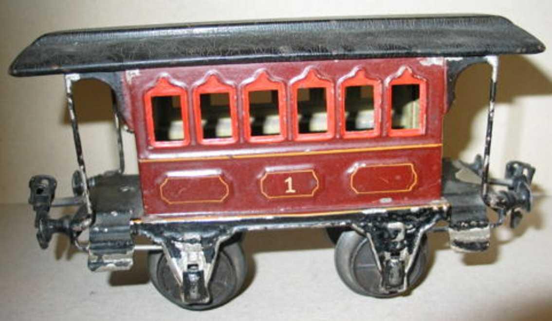 maerklin 1807/1 spielzeug eisenbahn personenwagen durchgangswagen braun spur 1