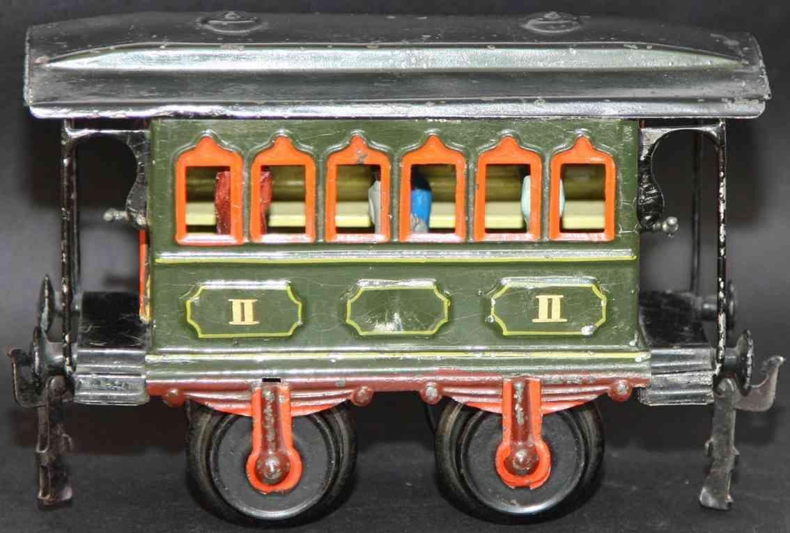 maerklin 1807/1 spielzeug eisenbahn personenwagen durchgangswagen gruen spur 1