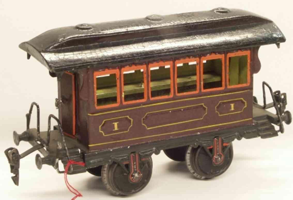 maerklin 1807/II spielzeug eisenbahn personenwagen durchgangswagen rotbraun spur 2