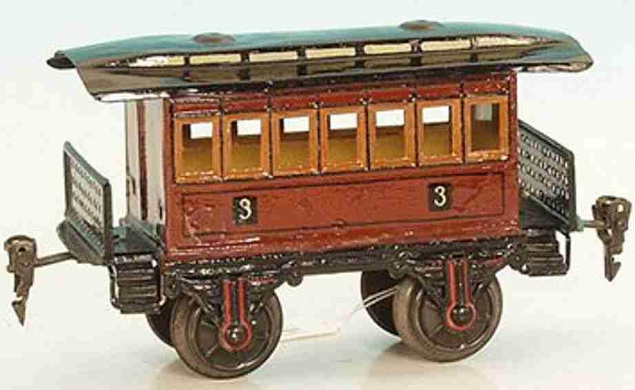 maerklin 1821/1 spielzeug eisenbahn personenwagen braun spur 1