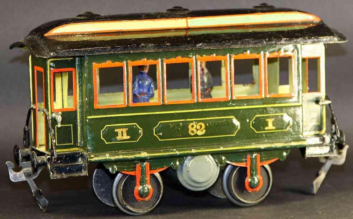 maerklin 1821/1 spielzeug eisenbahn personenwagen durchgangswagen gruen spur 1