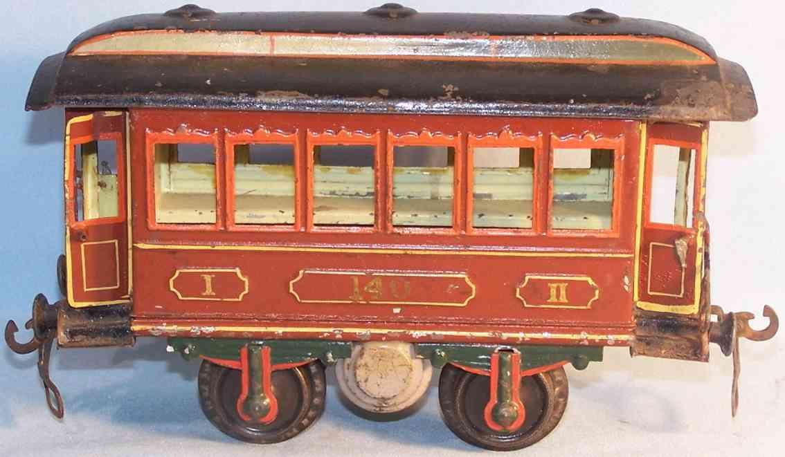 maerklin 1821/1 spielzeug eisenbahn personenwagen durchgangswagen rotbraun spur 1
