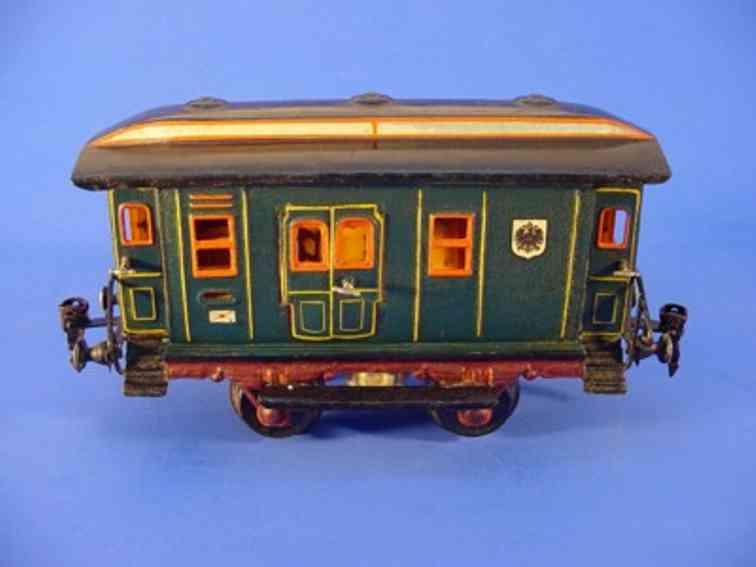 maerklin 1822/1 spielzeug eisenbahn postwagen gruen spur 1