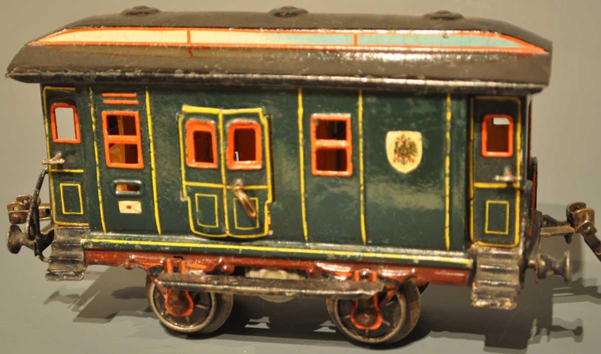 maerklin 1822/1 eisenbahn postwagen gruen spur 1 querliegender gaszylinder spur 1